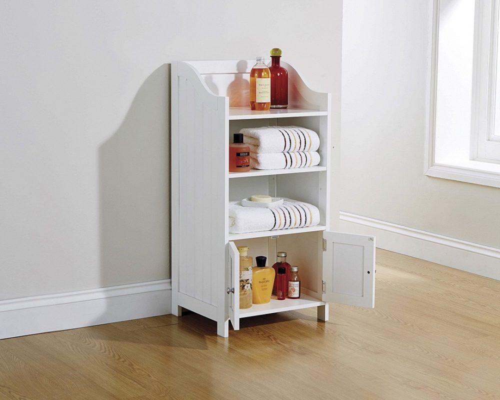 White Bathroom Deluxe Cupboard One