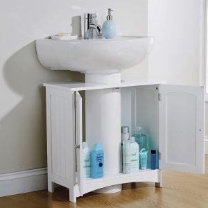 White Bathroom Under Basin Unit