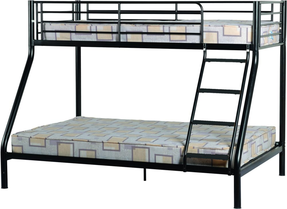 Picture of: Black Metal Triple Sleeper Bunk Bed Frame One Stop Furniture Shop