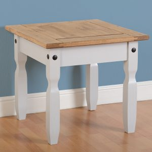 Corona Grey / Distressed Pine Lamp Table