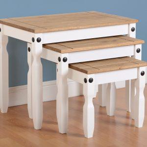 Corona White / Distressed Pine Tables
