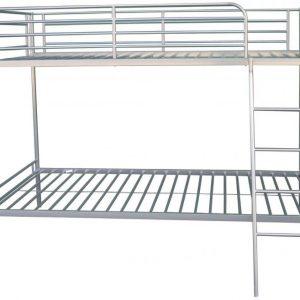 Silver Metal Bunk Bed Frame