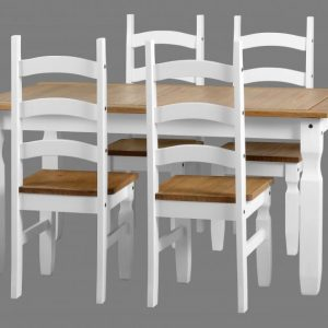 White Corona Dining Set
