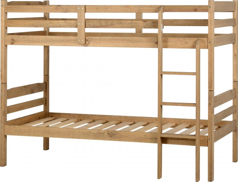 Distressed Pine Wooden Bunk Bed Frame