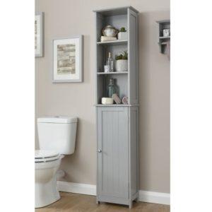 Grey Bathroom Tall Cupboard