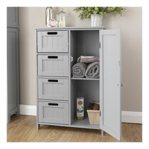 Grey Bathroom Multi Storage Unit