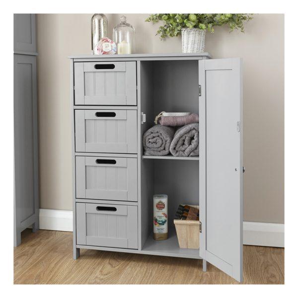 Grey Bathroom Multi Storage Unit