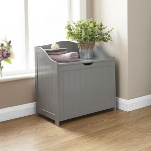 Grey Bathroom Storage Hamper