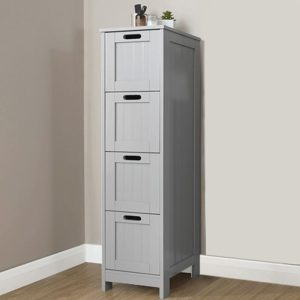 Grey Bathroom 4 Drawer Chest