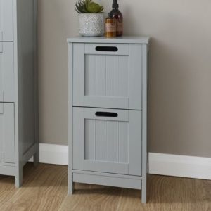 Grey Bathroom 2 Drawer Slim Chest - Colonial Bathroom Furniture