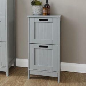 Grey Bathroom 2 Drawer Slim Chest - Colonial Bathroom Furniture