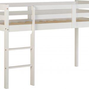 White Wooden Mid Sleeper Bed Frame