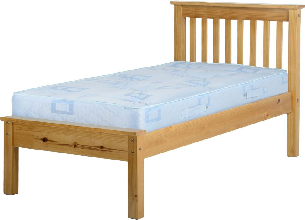 Antique Pine Wooden Low End Bed Frame One Stop Furniture Online