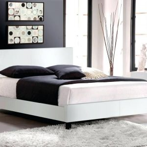 White Faux Leather Bed