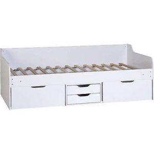 Dante White Storage Day Bed Frame