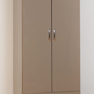Nevada Oyster Gloss 2 Door 1 Draw Wardrobe