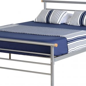 Orion Silver Metal Bed Frame