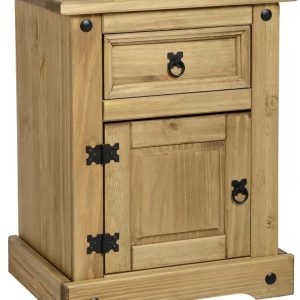 Corona Mexican Pine 1 Door 1 Draw Bedside *BRAND NEW*