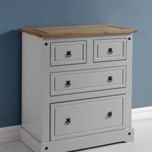 Corona Grey / Distressed Pine 2 +2 Drawer Chest