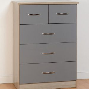 Nevada Grey Gloss 3 + 2 Drawer Chest