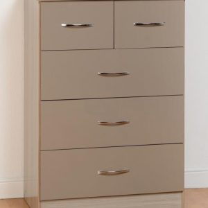 Nevada Oyster Gloss 3 + 2 Drawer Chest