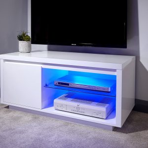 Polar Gloss White Led Tv Stand