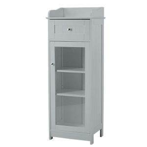 Alaska Grey Glass Door Storage Unit