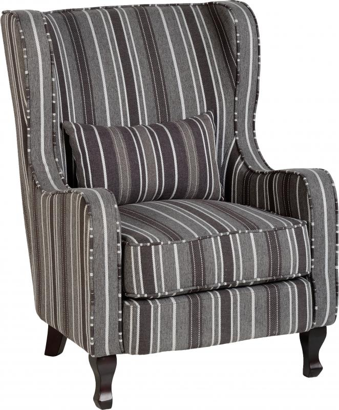 Sherbourne Grey Fireside Chair