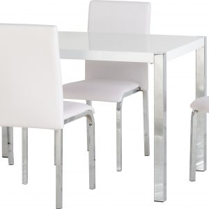 Charisma White Gloss Dining Set