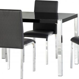Charisma Black Gloss Dining Set