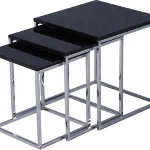 Charisma Black Gloss Nest Of Tables