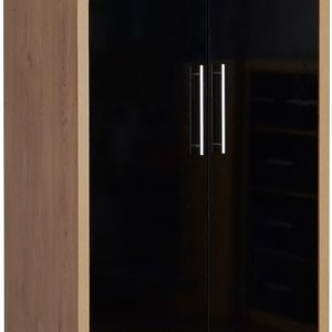 Seville 2 Door 1 Draw Black Gloss Wardrobe