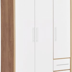 Seville 3 Door White Gloss Wardrobe