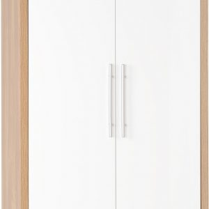 Seville 2 Door White Gloss Wardrobe