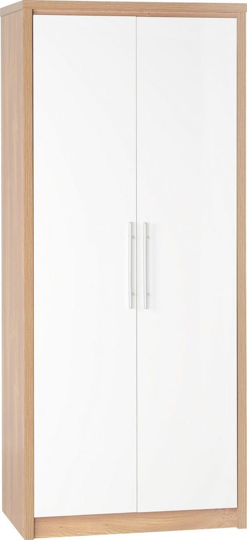 Seville 2 Door White Gloss Wardrobe