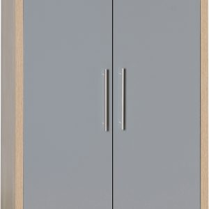 Seville 2 Door Grey Gloss Wardrobe