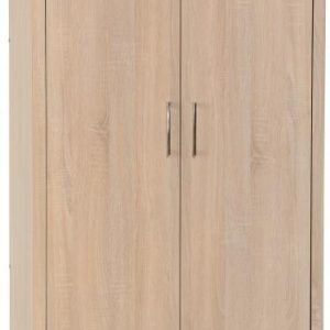 Lisbon Oak Veneer 2 Door Wardrobe