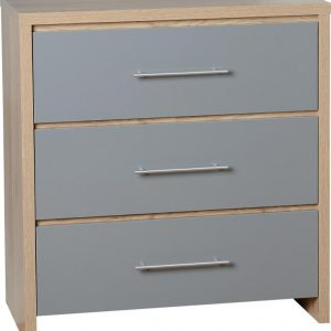 Seville Grey Gloss 3 Drawer Chest