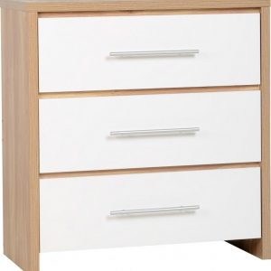 Seville White Gloss 3 Drawer Chest