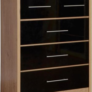 Seville Black Gloss 3+ 2 Drawer Chest