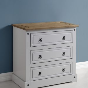 Corona Grey / Distressed Pine 3 Drawer Chest