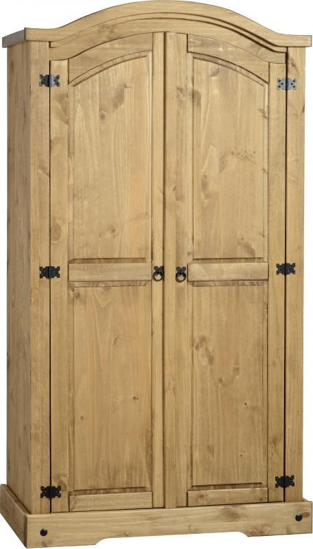 Corona Mexican Pine 2 Door Wardrobe