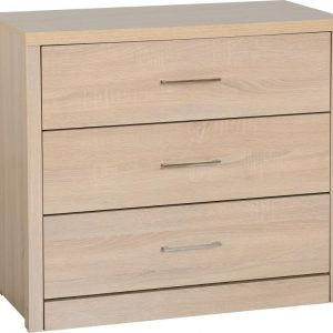 Lisbon Oak Veneer 3 Drawer Chest