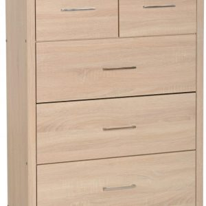 Lisbon Oak Veneer 3 + 2 Drawer Chest
