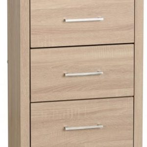 Lisbon Oak Veneer 5 Drawer Chest