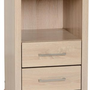 Lisbon Oak Veneer 2 Drawer Bedside