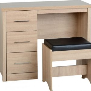 Lisbon Oak Veneer Dressing Table Set