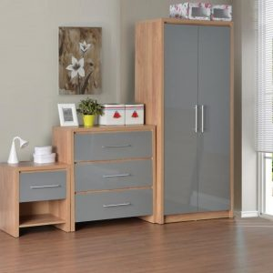 Seville Grey Gloss Bedroom Set