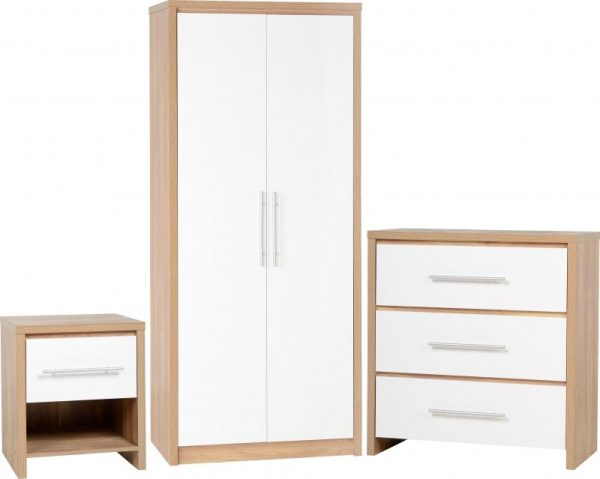 Seville White Gloss Bedroom Set