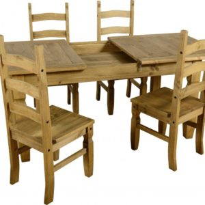 Corona Extending Dining Set - 4 Chairs